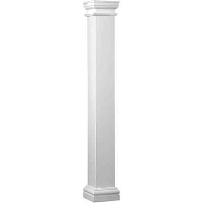 Crown Column Duralite 8 In. x 8 Ft. Smooth White Fiberglass Column
