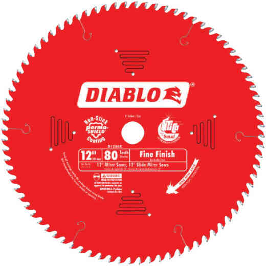 Diablo 12 In. 80-Tooth Fine Finish Circular Saw Blade