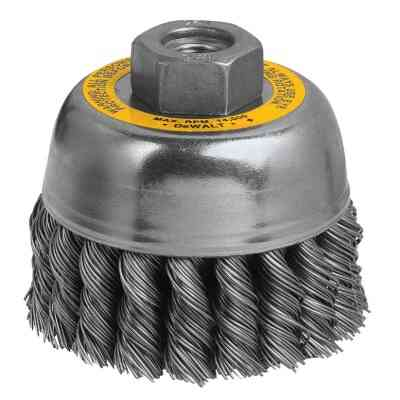 DeWalt 3 In. Knotted 0.020 In. Angle Grinder Wire Brush