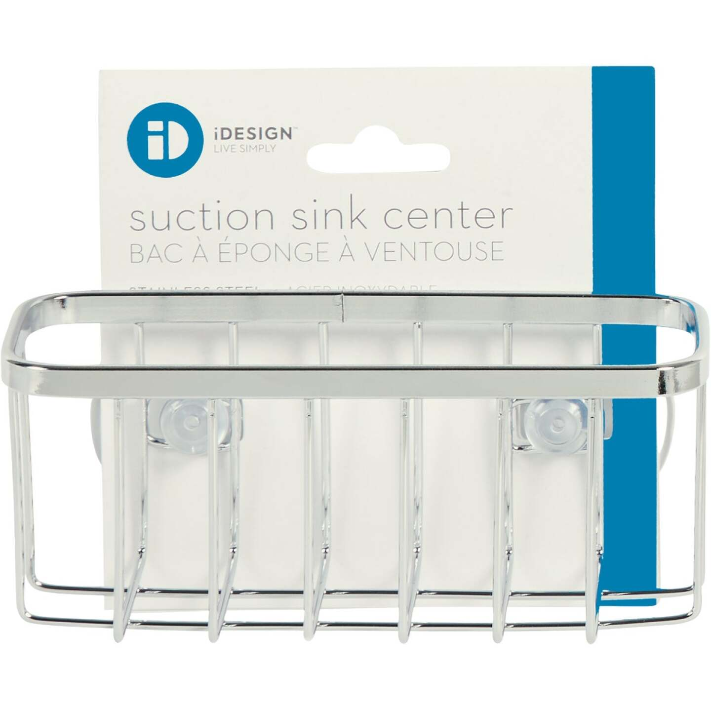 InterDesign Sinkworks Suction Sink Center Sponge Holder Image 2