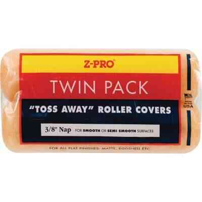 Premier Z-Pro 9 In. x 3/8 In. Toss Away Knit Fabric Roller Cover (2-Pack)