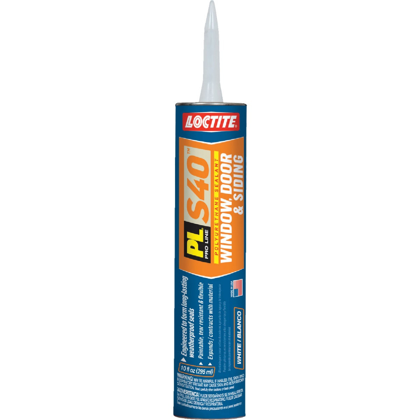 Loctite PL S40 10 Oz. Polyurethane Window, Door, & Siding Sealant, White Image 1