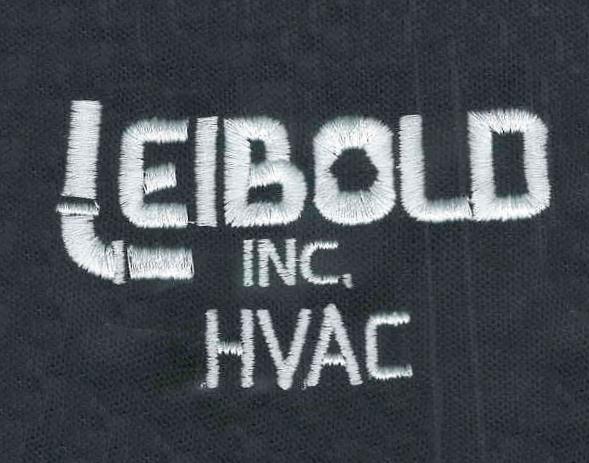 Leibold Inc HVAC logo embroidered